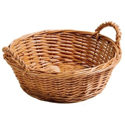 Chef-Hub Round Wicker Basket